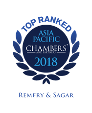 Chambers Asia-Pacific – 2016, 2017 & 2018
