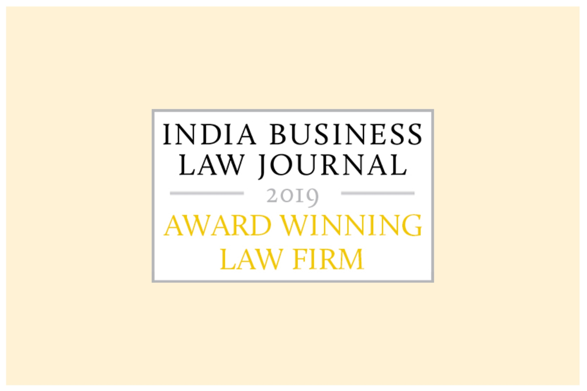 India Business Law Journal (IBLJ) Awards, 2019