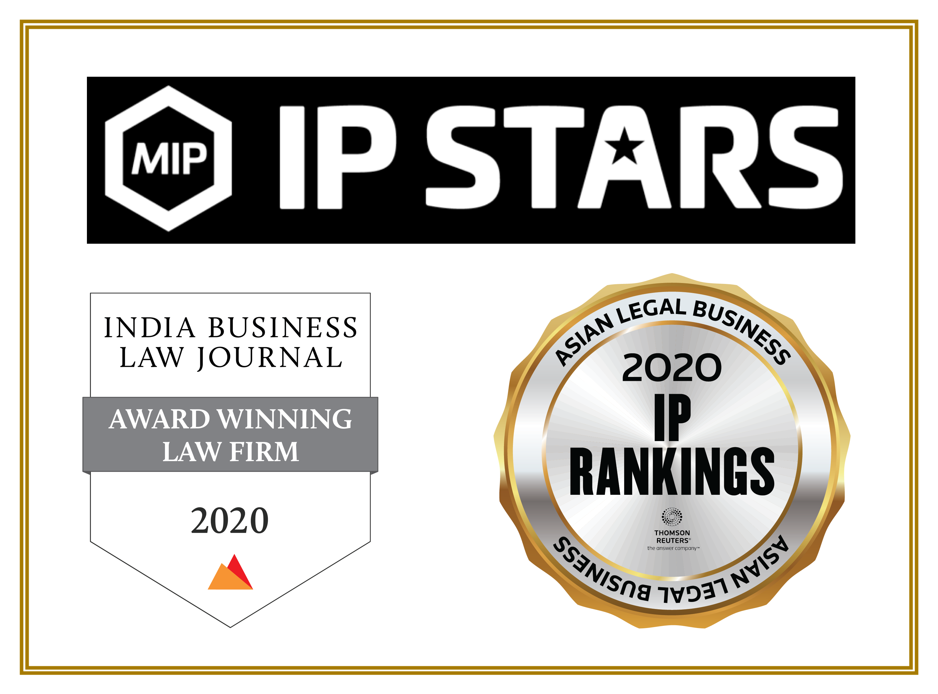Managing IP's IP STARS, 2020 Indian Law Firm Awards (IBLJ) and more….