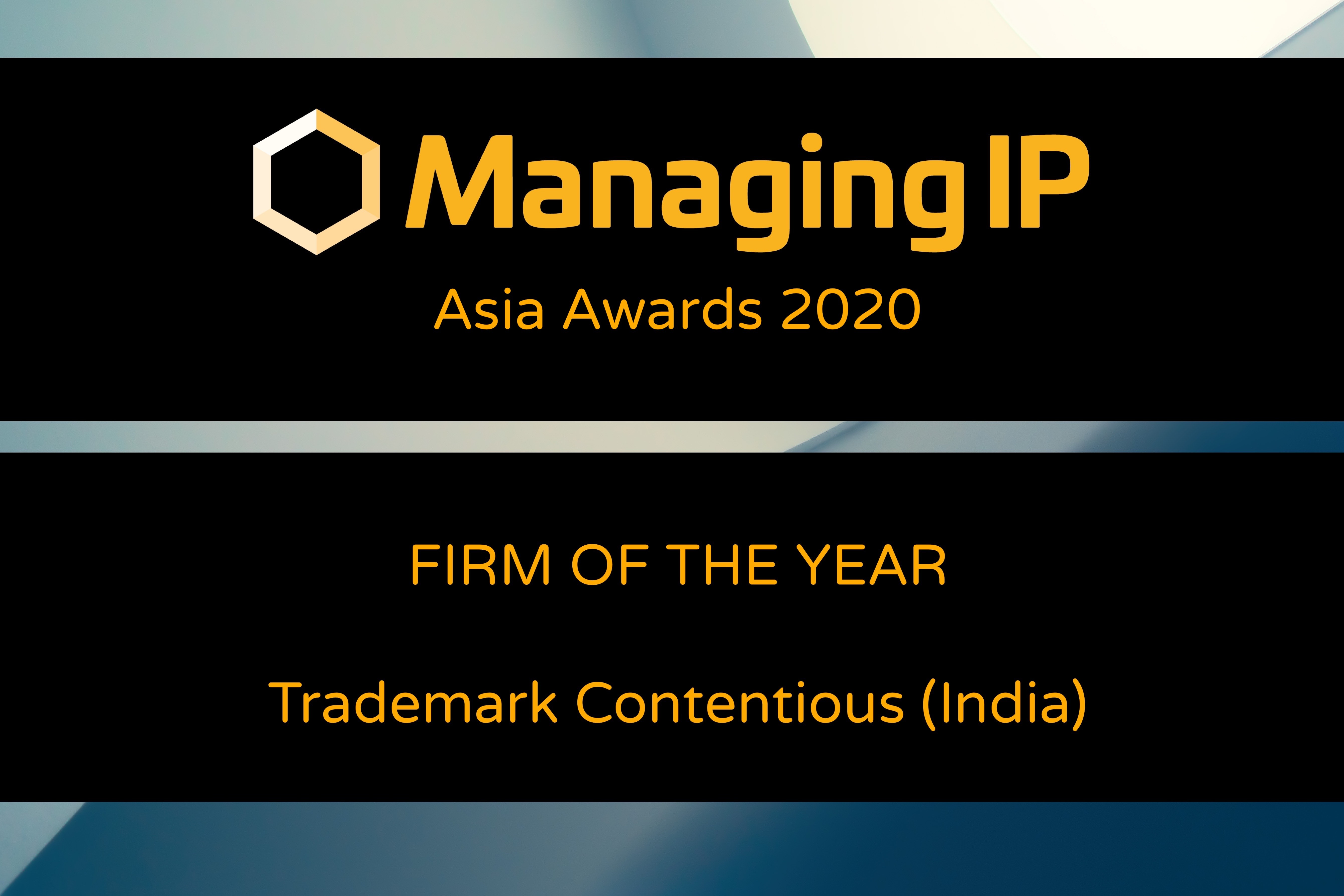 Managing IP's Trademark Contentious Firm of the Year (India)