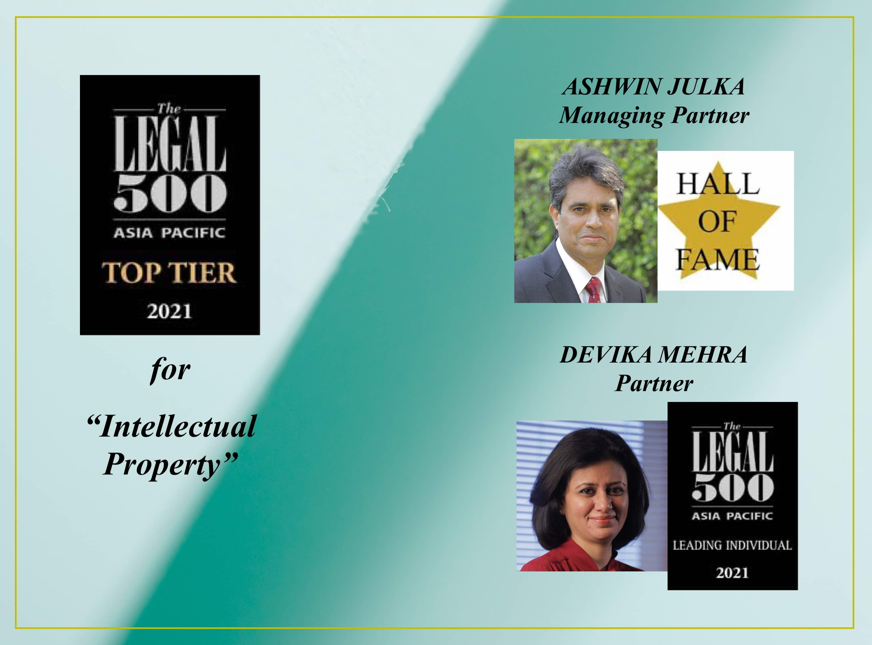 Legal 500 Asia Pacific Rankings 2021