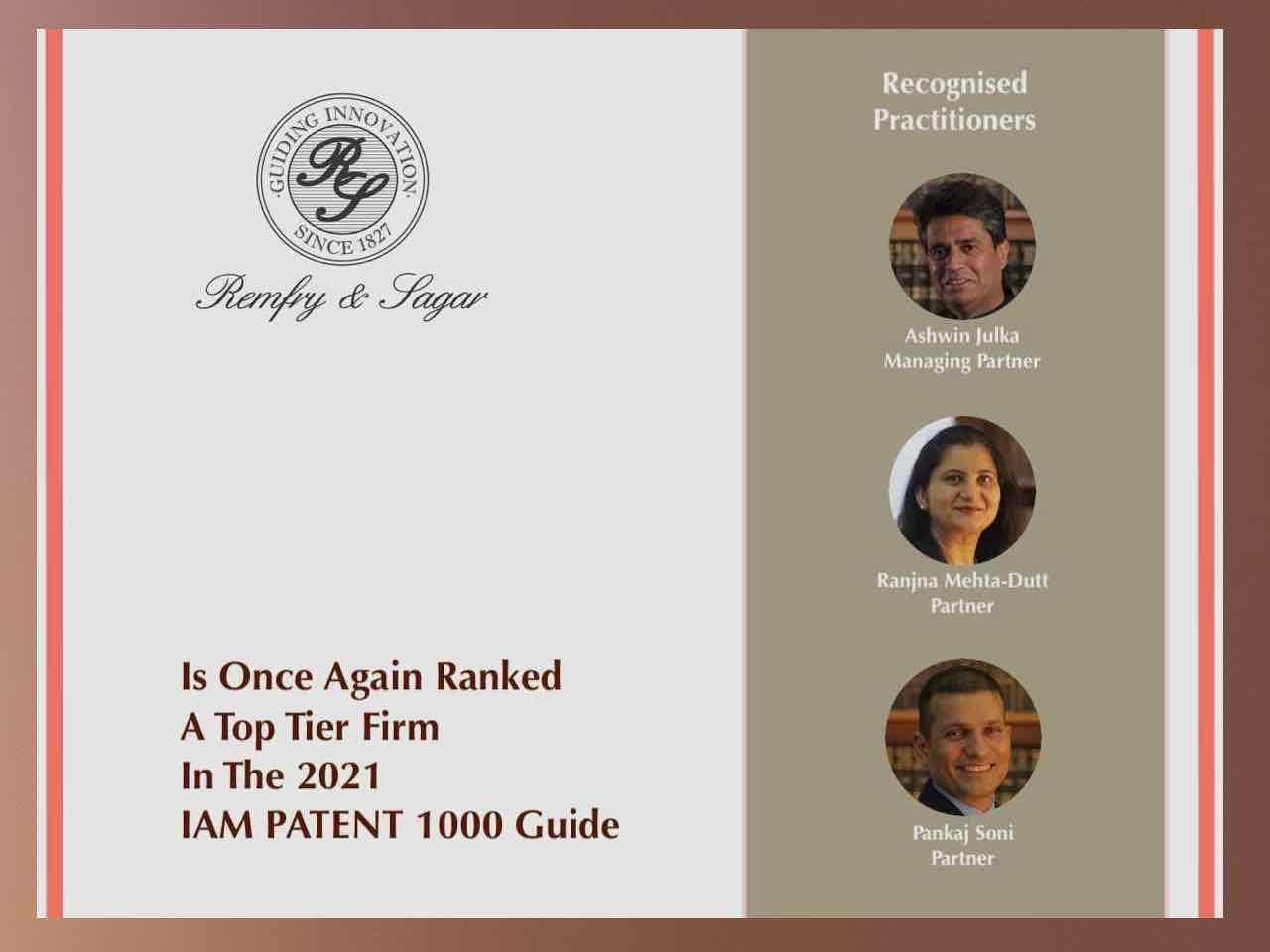 IAM Patent 1000 Rankings – 2021